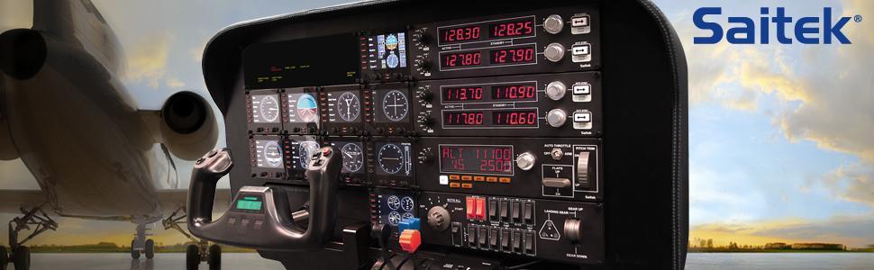 Saitek Three Lever Pro Throttle Quandrant