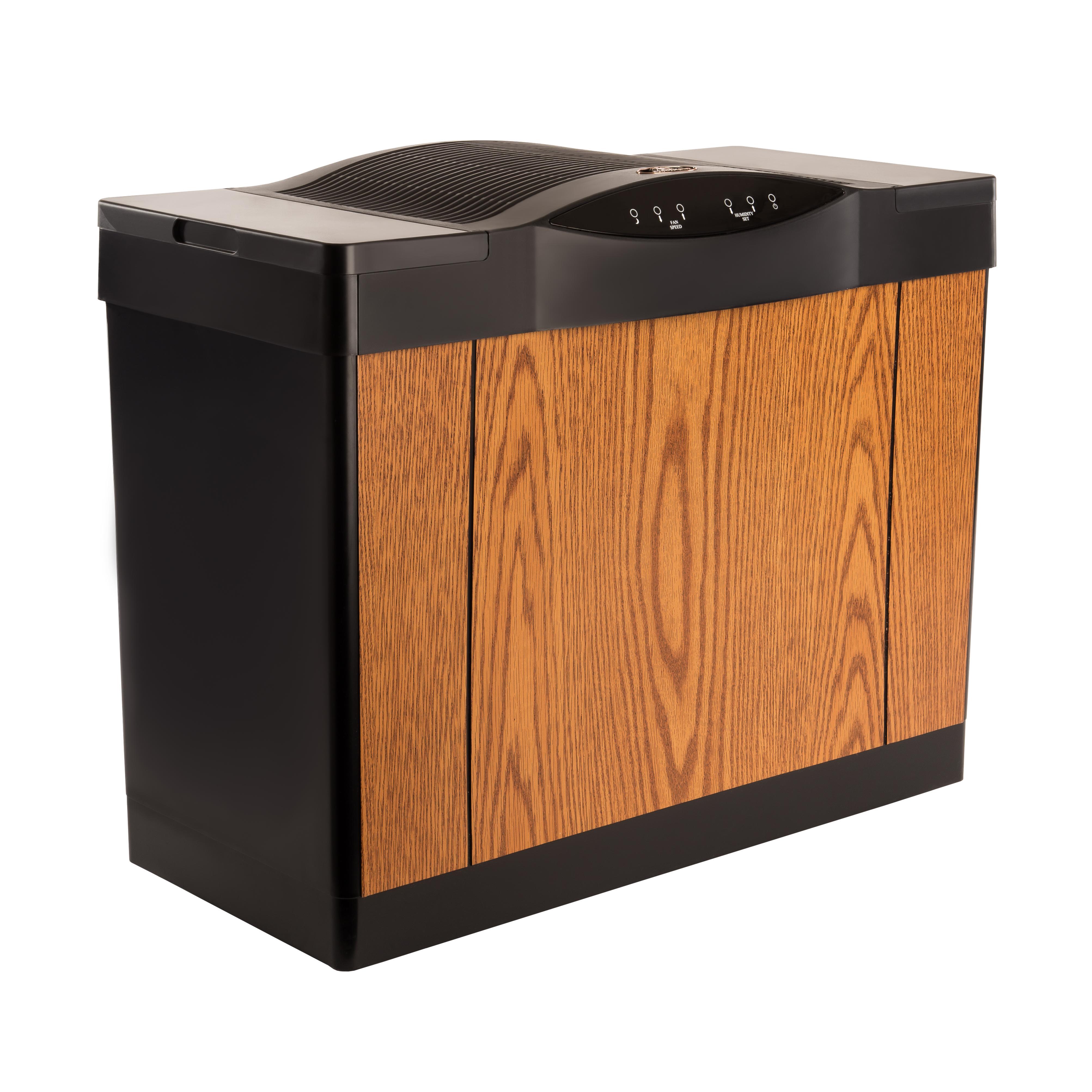 Humidifier Light Oak Black Trim Single Room Humidifiers #9E5D2D