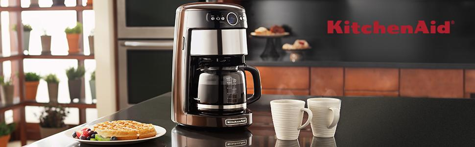 NEW 12-Cup Glass Carafe Black Coffe Maker W/ Removable Water Tank By KitchenAid eBay