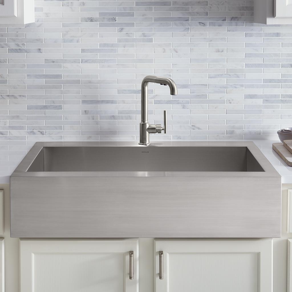 KOHLER K-3942-4-NA Vault Top-Mount Single-Bowl Kitchen