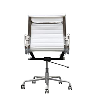 ribbed back, eames aluminum, office chair, modern, mid-century, midcentury, mid century, leather