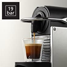 images shows machine in use with logo depciting 19 bar pressure