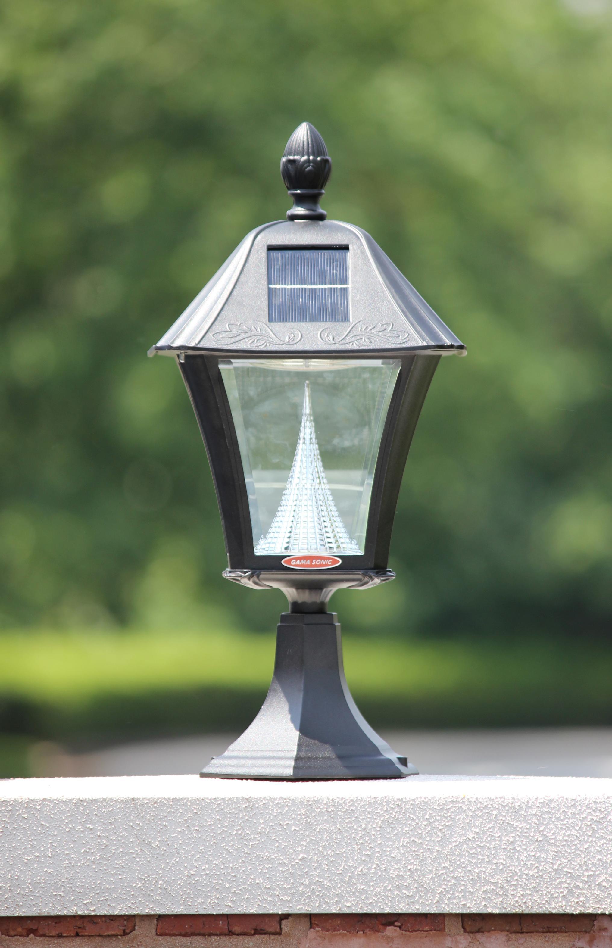 Amazon.com : Gama Sonic Baytown Solar Outdoor LED Light Fixture, Pole