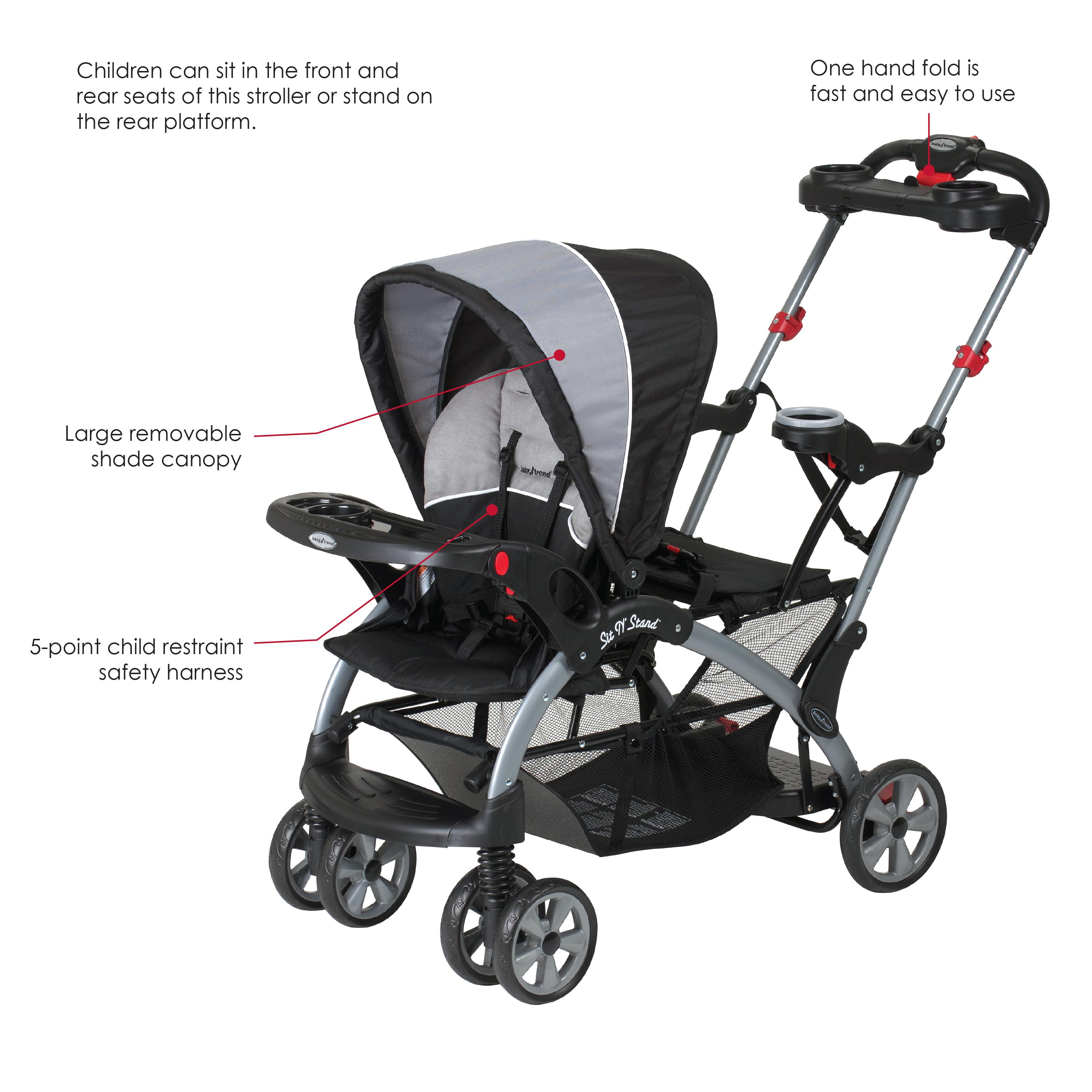 Sit And amazon com baby trend sit n stand ultra tandem stroller phantom baby