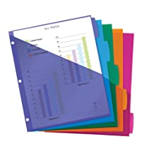sturdy pockets, dividers, storage, loose, unpunched, papers