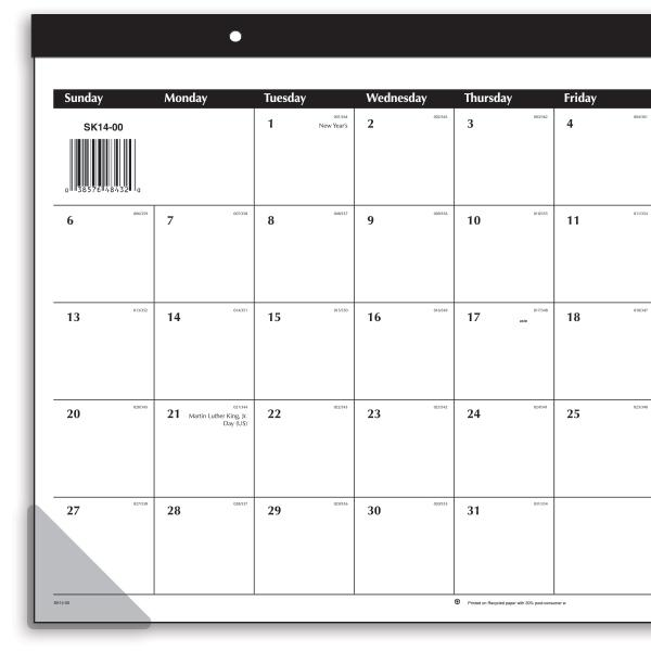Weekly Calendar Desk Pad : Amazon at a glance compact monthly desk pad calendar