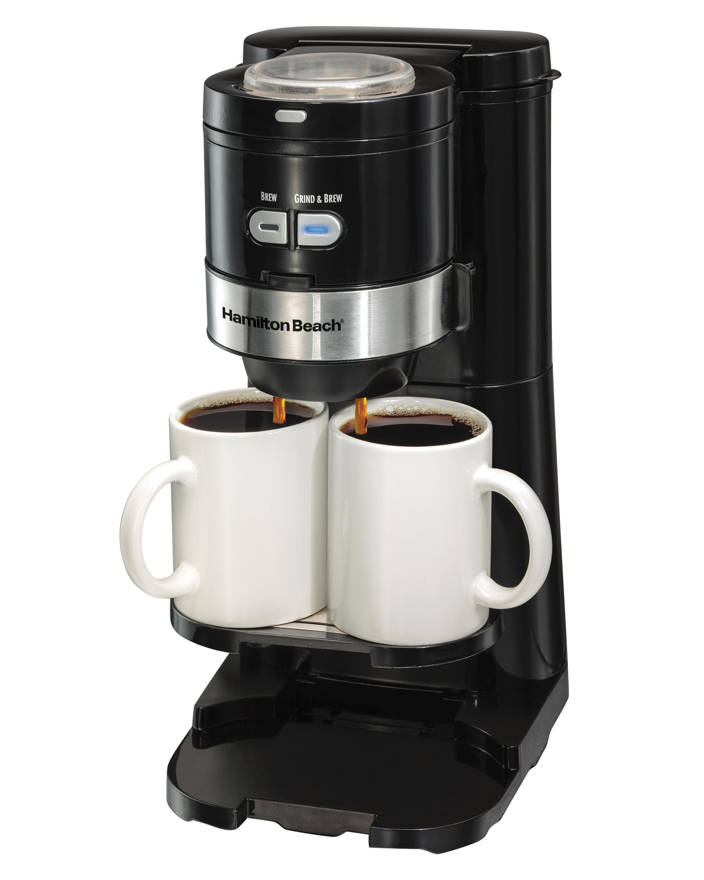 Amazon.com: Hamilton Beach Coffee Maker, Grind and Brew Single Serve, Black (49989): Kitchen ...