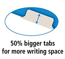 Big tabs, Avery, Write-On Dividers, 50% more writing space, spacious