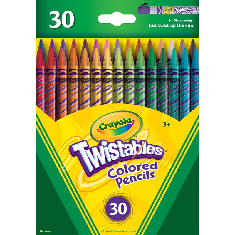 Crayola 30ct Twistable Colored Pencils Kids Colors Kid ...