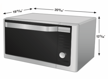 Countertop Microwave Drop Down Door : ... foot counter top convection microwave measures 12 3 16 by 20 9 16