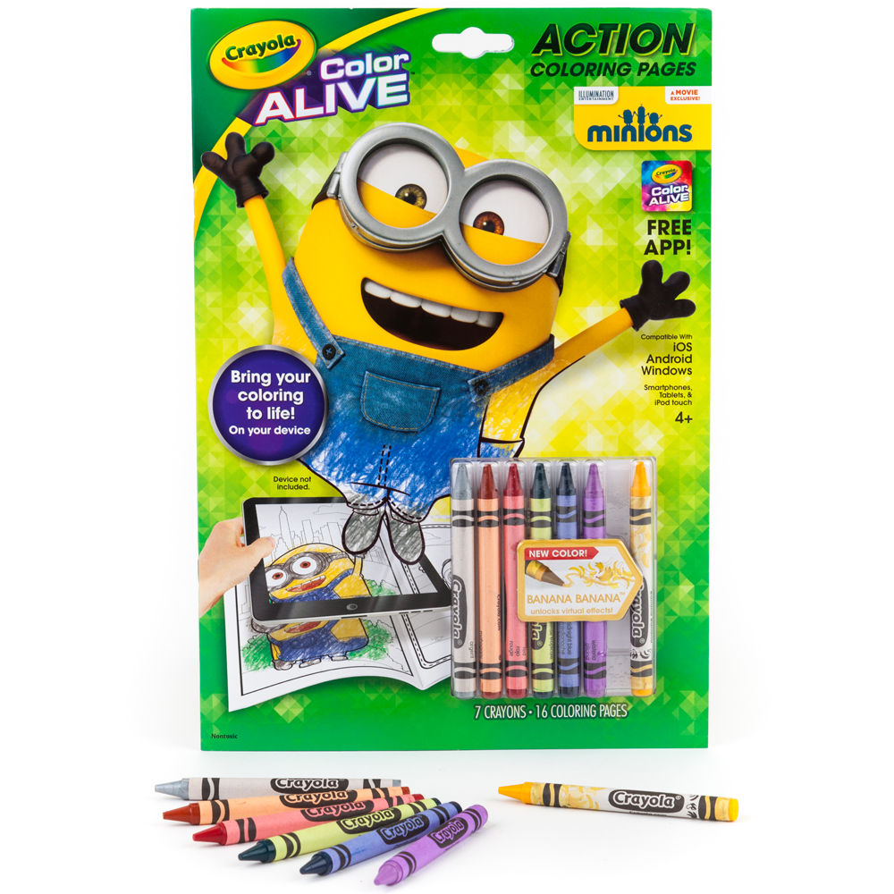 Crayola Color Alive Coloring Pages Minions