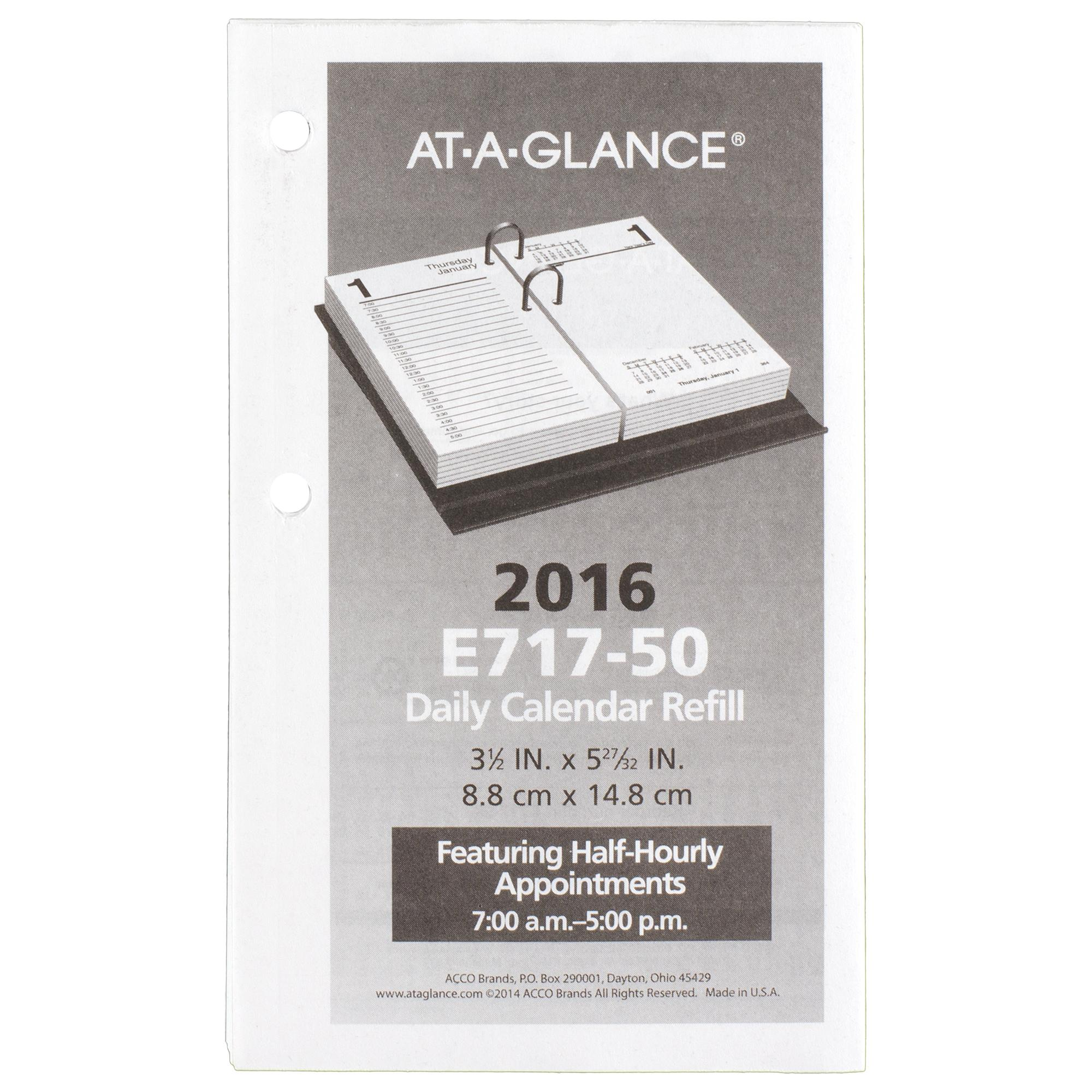 At A Glance Daily Desk Calendar Daily Desk Calendar