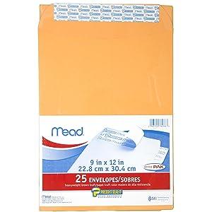 mead, press it seal it, mead press-it seal-it, envelopes, self adhesive envelopes