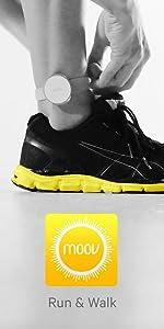 moov, run, walk, tracker, cadence distance, pace, range of motion, intervals, coaching