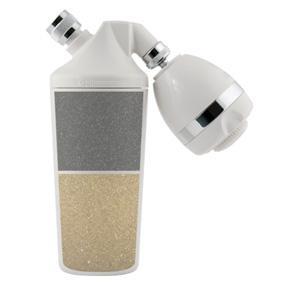 shower filter with filter media