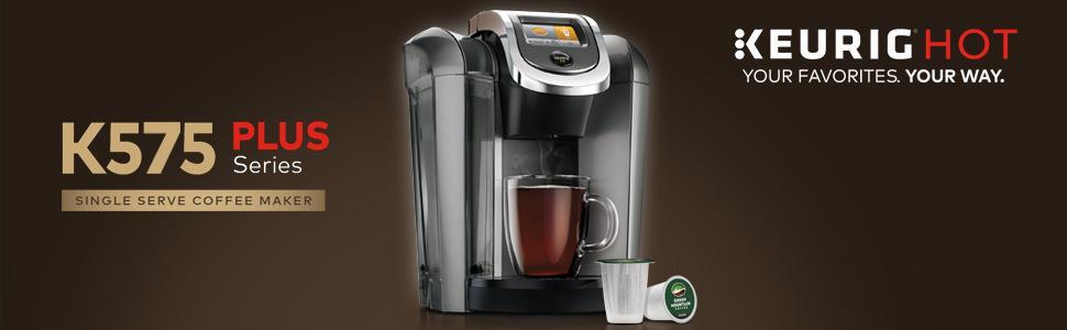 Keurig K575 Plus Single Serve Cup K-Cup Coffee Coffeemaker Tea Brewing System eBay