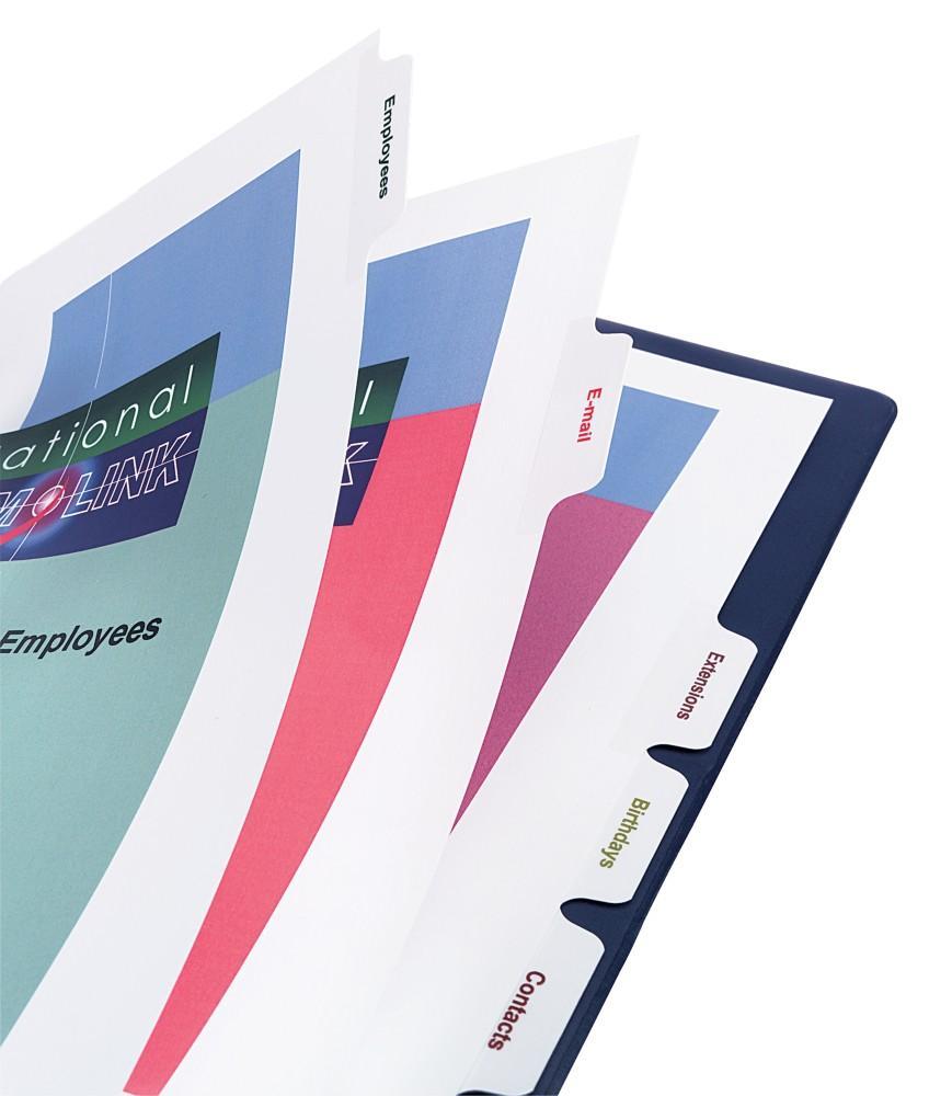 Avery Print-On Presentation Dividers, 5 Tabs, White, Laser/ InkJet, 1