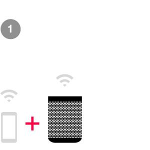 Connect a Sonos speaker to your WiFi network.