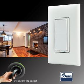 Wall Sconces Zwave : GE12722 Z-Wave Wireless Lighting Control On/Off Switch - Wall Light Switches - Amazon.com
