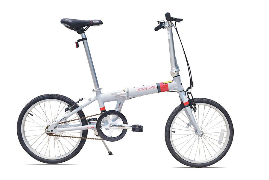 Allen Sports Downtown Aluminum 1 Speed Folding Bicycle