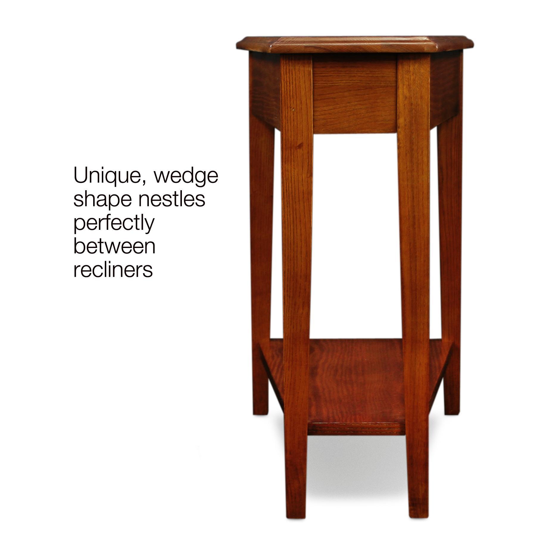Amazon Leick Recliner Wedge End Table Medium Oak