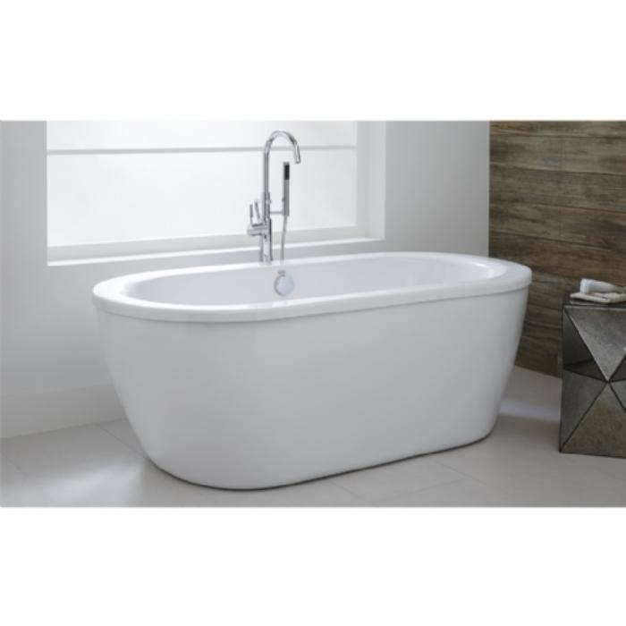 American Standard Cadet Freestanding Tub Arctic White Wood