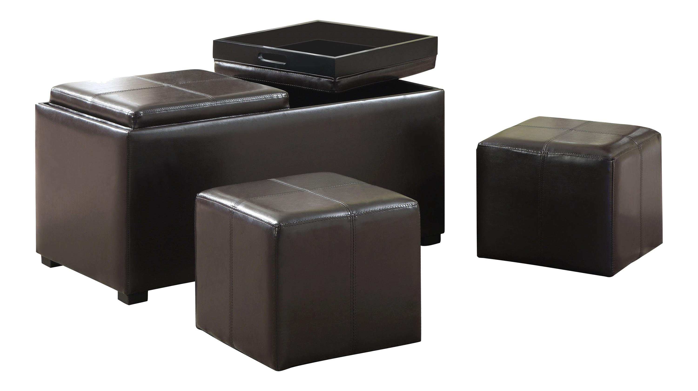 Amazoncom simpli home avalon 3 piece rectangular for Small ottoman storage