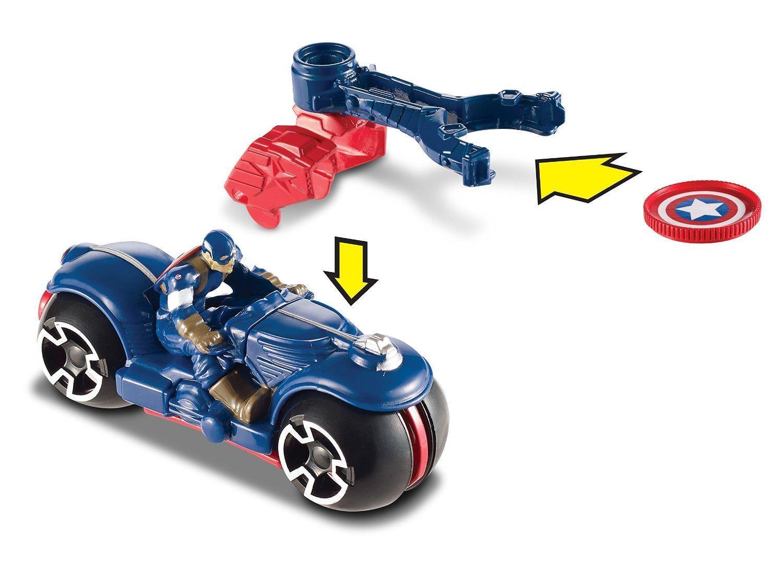 Amazon.com: Hot Wheels Marvel Iron Man Motos (2 Pack): Toys & Games