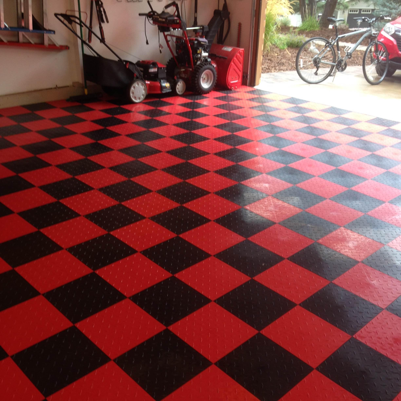Speedway Garage Tile Interlocking Garage Flooring 6 LOCK Diamond