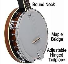 bound banjo neck