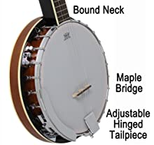 bound banjo neck
