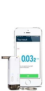 BACtrack Vio Smartphone Keychain Breathalyzer