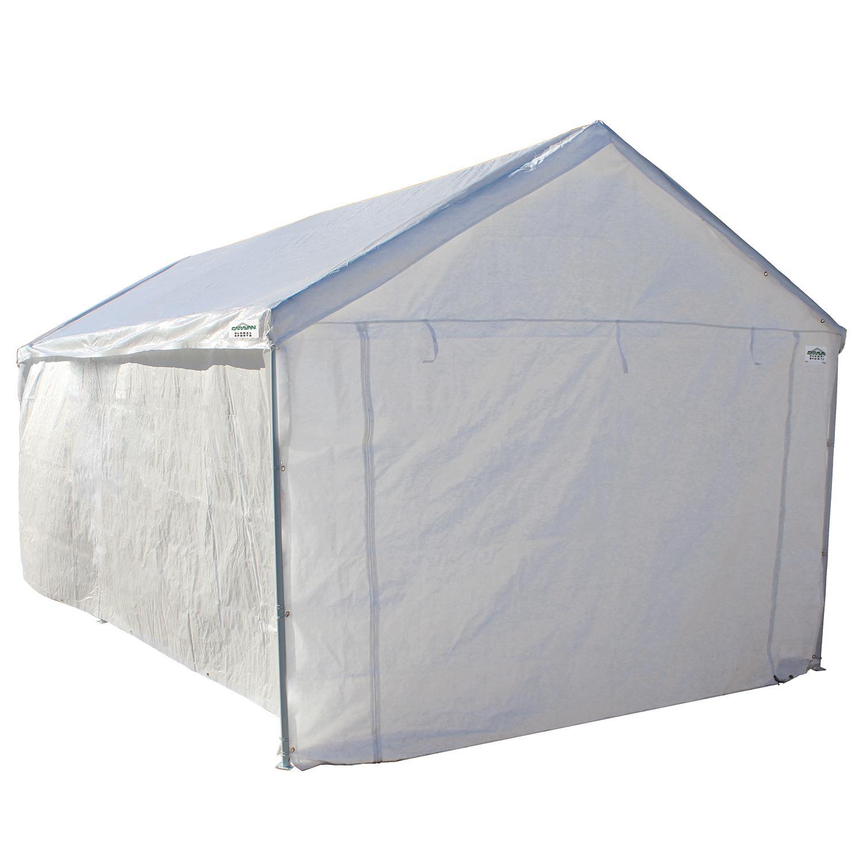 Portable Garage Canopies : Portable canopy garage side wall kit carport big
