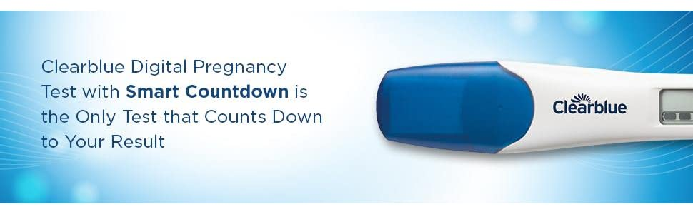 Digital pregnancy test,Pregnancy test results display,Pregnancy test smart countdown,Clearblue
