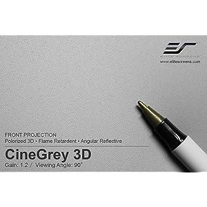 cinegrey 5d, 3d screen material, projection screen material,