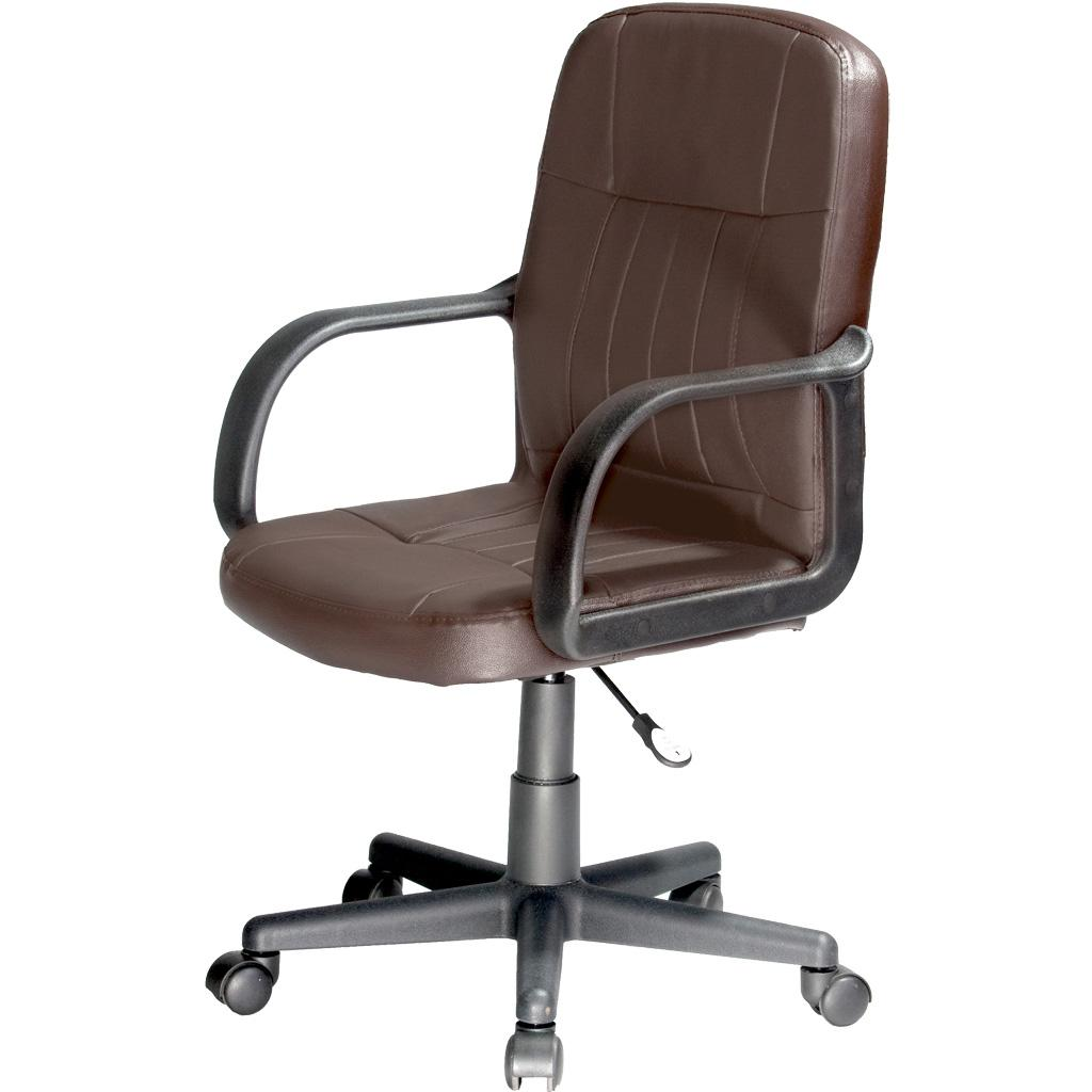 Comfort Products 60 5607M Mid Back Leather Office Chair Black F