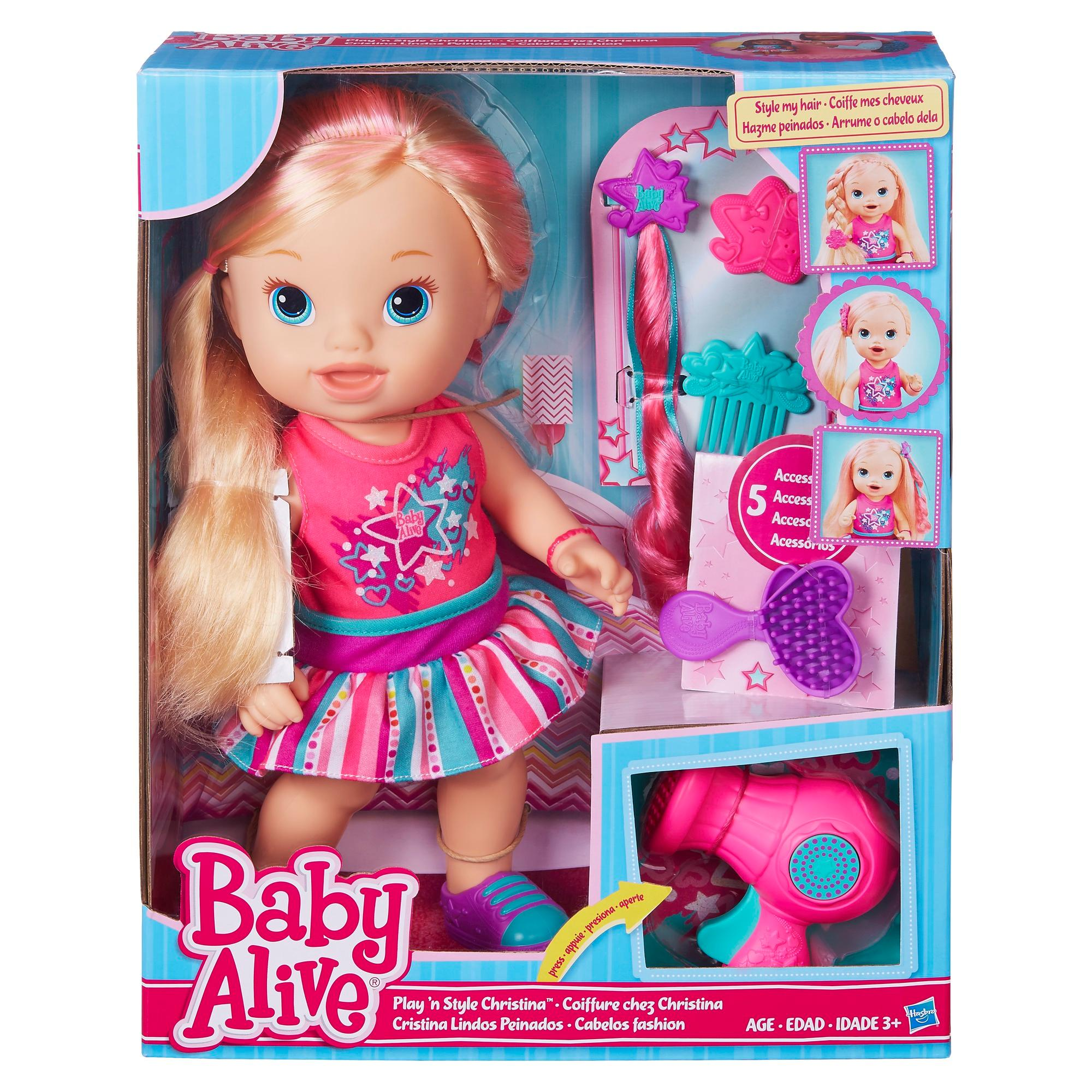 Amazon Com Baby Alive Play N Style Christina Doll