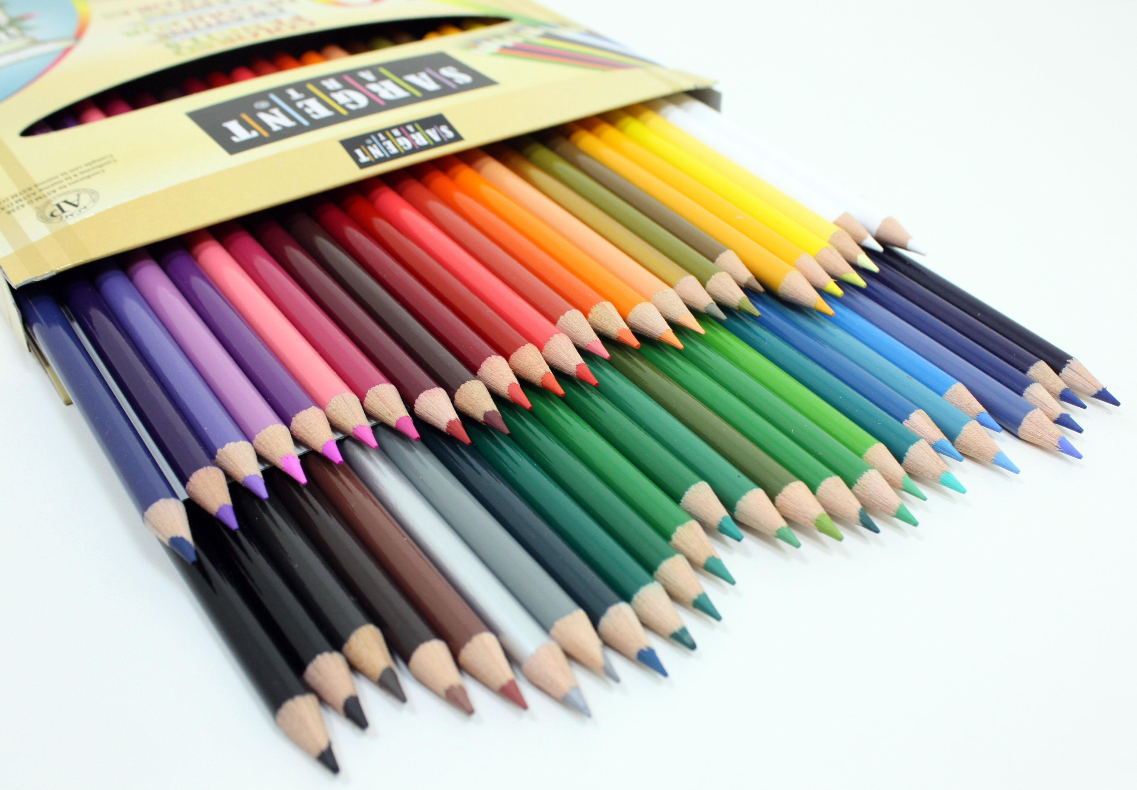 amazoncom sargent art 227251 colored pencils pack of