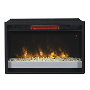 Classicflame 26ii310grg 201 26 Contemporary Infrared Quartz Fireplace Insert With