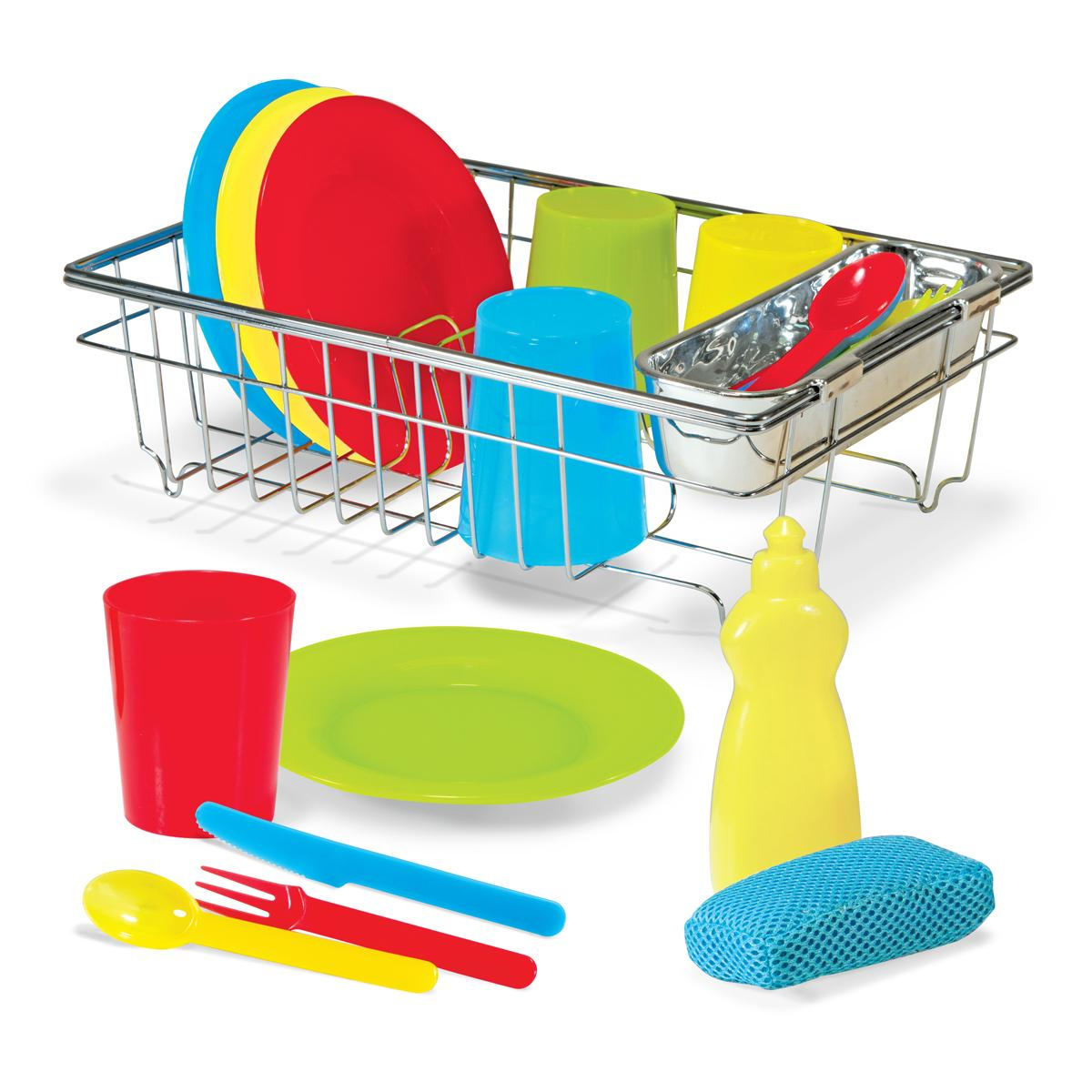Melissa doug let 39 s play house wash and dry for Best kitchen set for 4 year old