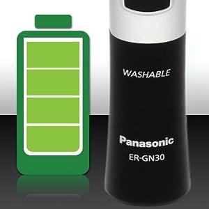 ER-GN30-K Cordless, battery-powered operation