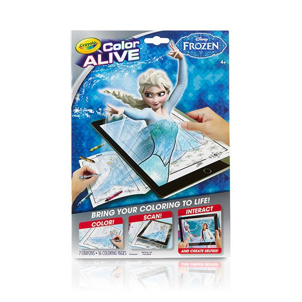 Crayola frozen color alive action coloring for Crayola color alive coloring pages