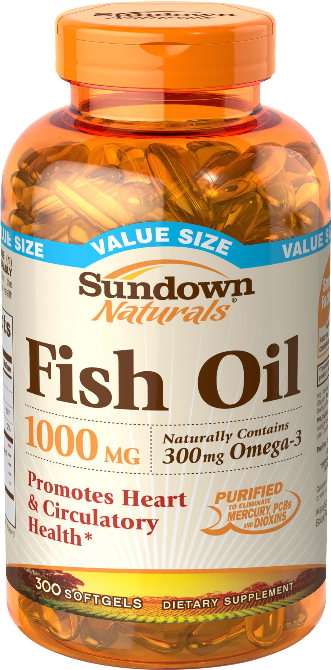 Sundown naturals fish oil with omega 3 fatty for Sundown naturals fish oil review