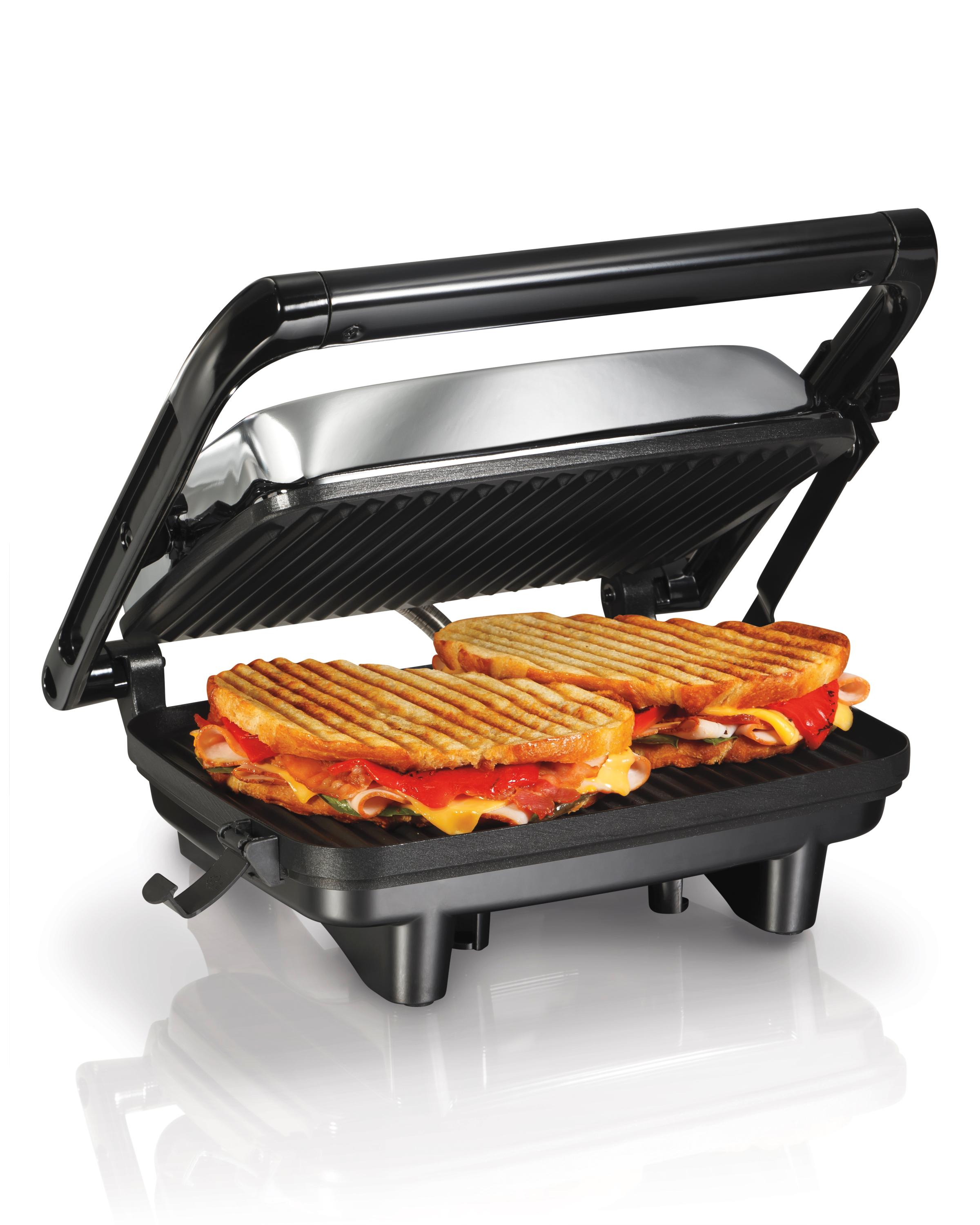 hamilton beach 25460a panini press gourmet. Black Bedroom Furniture Sets. Home Design Ideas