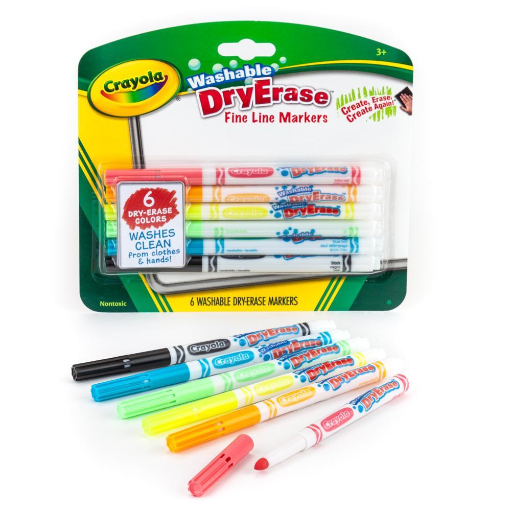 Amazon.com: Crayola Fine Line Washable Dry Erase Markers