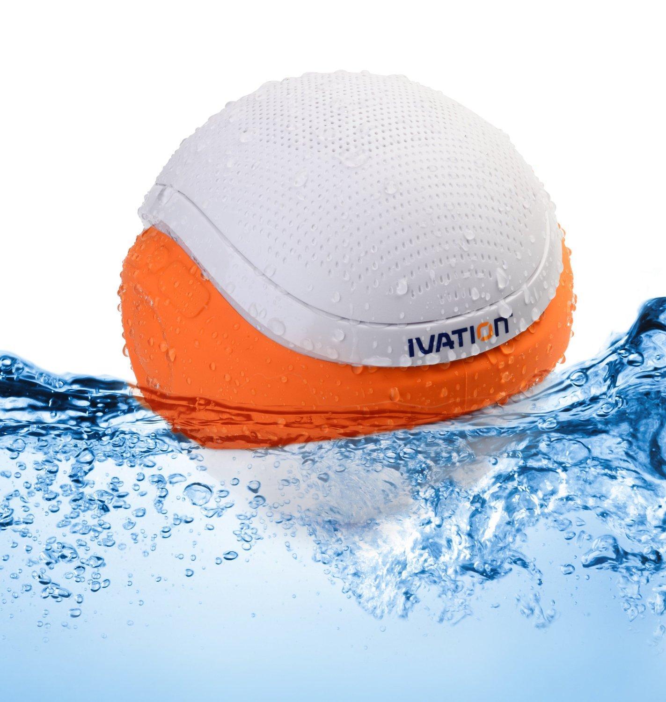 Ivation Waterproof Bluetooth Swimming Pool Floating Speaker Electronics