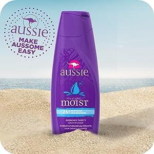 aussie, hair care, moisturizing shampoo, moisturizing conditioner