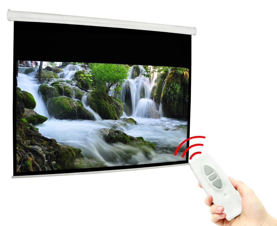 Electric projector screens ir rf remotes for 100 inch motorized projector screen