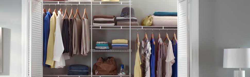 closetmaid 5' to 10' closet organizer 3
