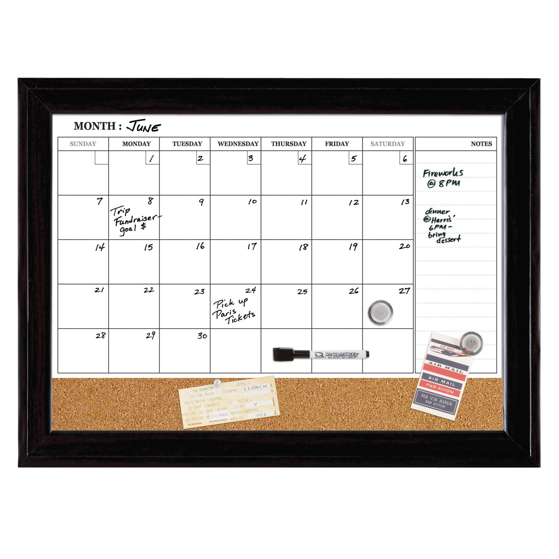 Dry Erase Calendar And Cork Board : Dry erase board whiteboard calendar